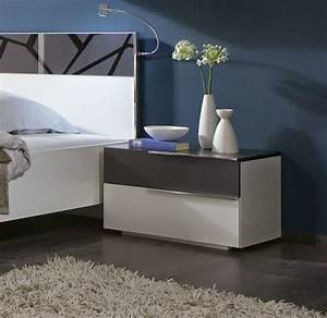 Modern white Bedside table - 10 designs and ideas