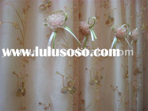 pin shower curtain embroidered flowers sequins flower