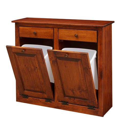 Wood Trash Cabinet by Tilt Out Trash Recycling Cabinet From
