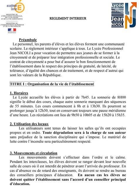 modele reglement interieur entreprise 2012 r 232 glement int 233 rieur