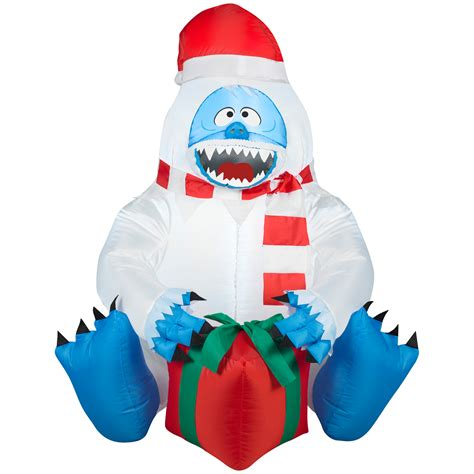 christmas blowups abominable snowman decoration at kmart