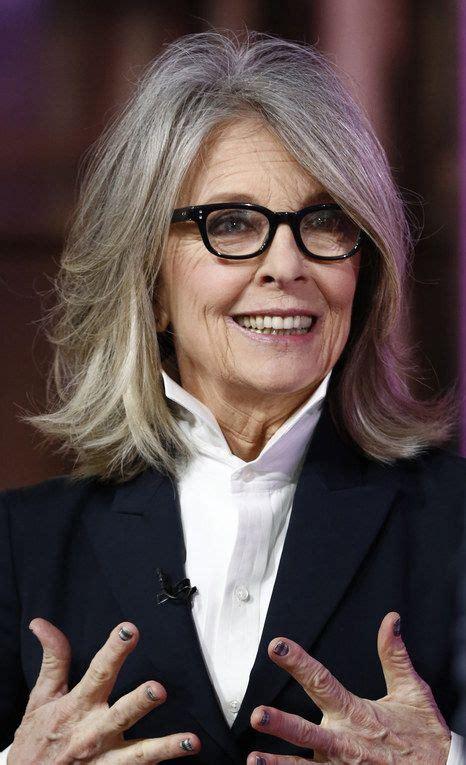 Diane Keaton  Cabelo Novo  Pinterest  Cabelo, Grisalhos