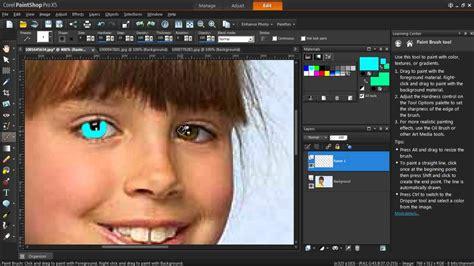 changing eye color in paintshop pro x5
