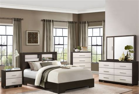 8 Milan Bedroom Set Espresso by Pell Espresso And White Bookcase Bedroom Set From
