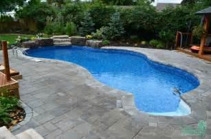 Inground Swimming Pools with Rock Waterfalls