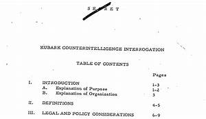 The Cia U2019s Declassified Torture Handbook  How To Create A
