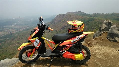 Modif Motor Matic by 84 Modifikasi Motor Matic Trail Modifikasi Trail