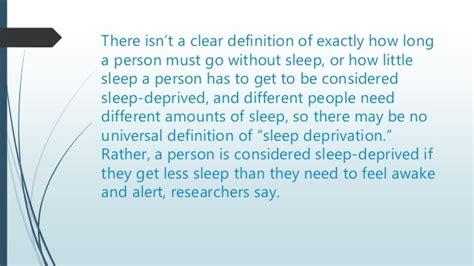 behavioral effects  sleep deprivation