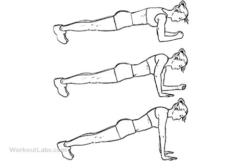 Modified Bicycle Exercise by Plank To Push Up Pushups Walking Plank Up Downs