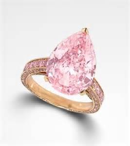 Pink Pear-Shaped Diamond Ring