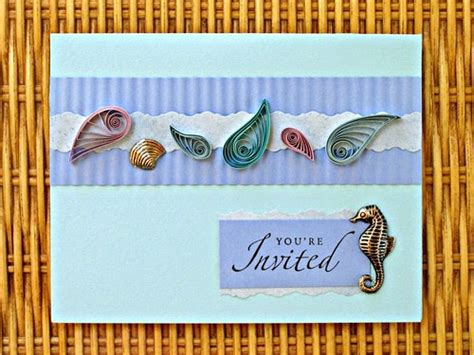 paper quilling  summer party invitation