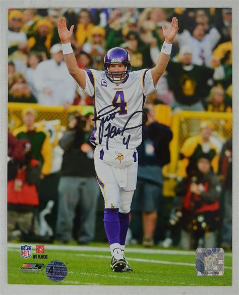 Lot Detail Brett Favre Vikings Vs Packers Autographed