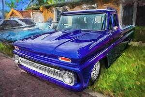 1964 Chevy C10 Pick Up Truck Painted Photograph By Rich Franco