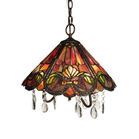 red tiffany style l america 3 light bronze indoor red tiffany style hanging