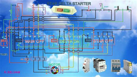 Star Delta Starter Working Function Connection Diagram