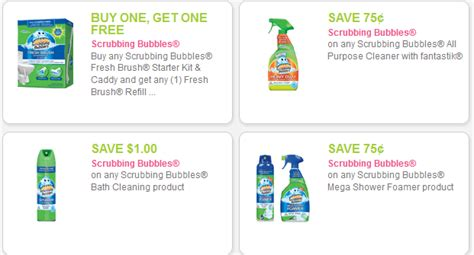 75916 Coupon Scrubbing Bubbles Shower Cleaner by New Scrubbing Bubbles Coupons 1 19 Toilet