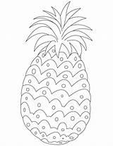 Pineapple Coloring Printable Fruit Clipart Pineapples Colour Sheets Printables Fresh Bestcoloringpages Children Kleurplaten Template Worksheets Preschool Craft Stencil Drawing Stencils sketch template