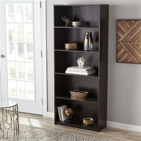 5 Shelf Bookcase by Mainstays 5 Shelf Bookcase Colors Ebay