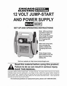 Harbor Freight Tools Chicago Electric 38391 User Manual