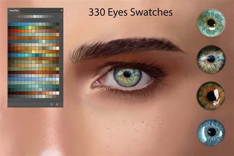 eyes ps swatches  digitalpainting photoshop add ons