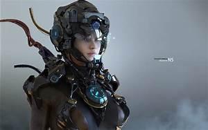 Women, Martin, Gao, Digital, Art, Fantasy, Girl, Futuristic, 3d, Cyborg, Robot, Wallpapers, Hd
