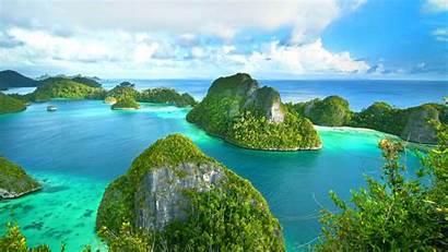 Island Ampat Raja Indonesia Papua Ocean Sea
