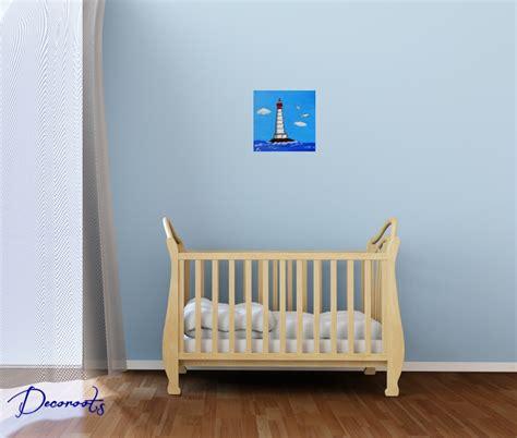 tableau chambre bébé garçon tableau enfant bébé garçon le phare thème mer décoration