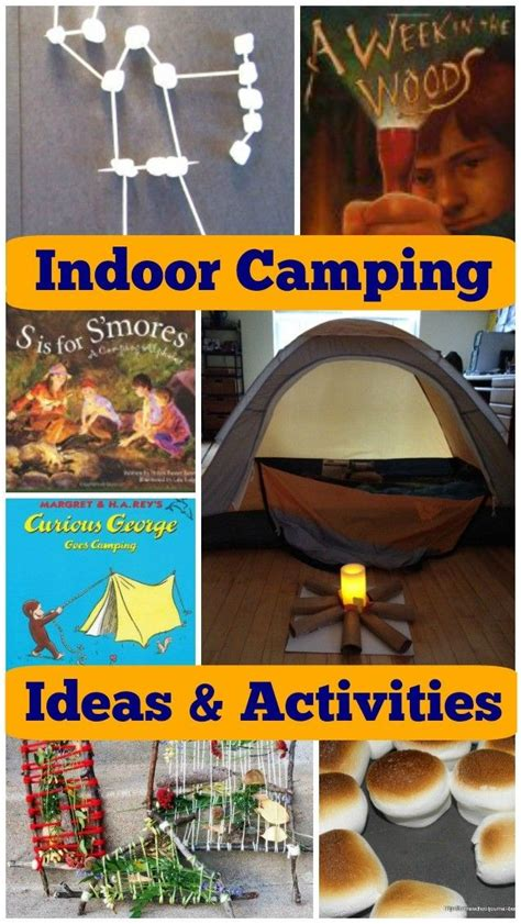 12 FUN Indoor Camping Activities for Kids Camping