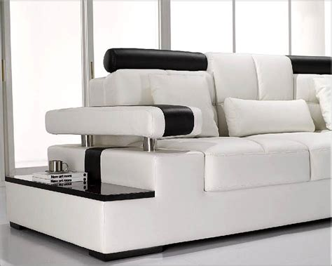 modern white leather sectional sofa set lt