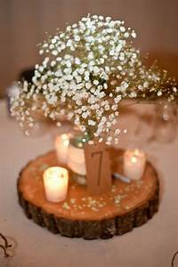 17 Best ideas about Wood Wedding Centerpieces on Pinterest