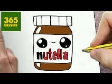 comment dessiner un pot de nutella kawaii