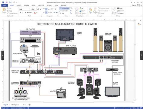 create visio audio wiring diagrams netzoom