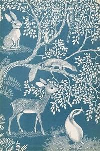 little forest | vintage children's book illustration by ...