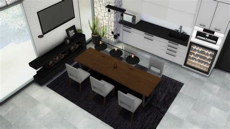 Sims 4 Ccs The Best Dining Room By Mxims