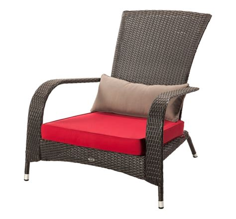 patio flare wicker muskoka chair with cushion the home