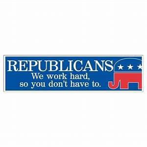 funny republican bumper sticker or magnet design 4 3 With kitchen cabinets lowes with american bumper stickers