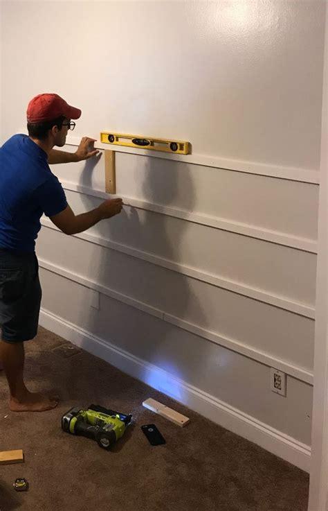 gorgeous horizontal board  batten accent wall  diy