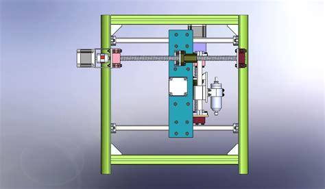 mini cnc machine  model sldprt sldasm slddrw cgtradercom