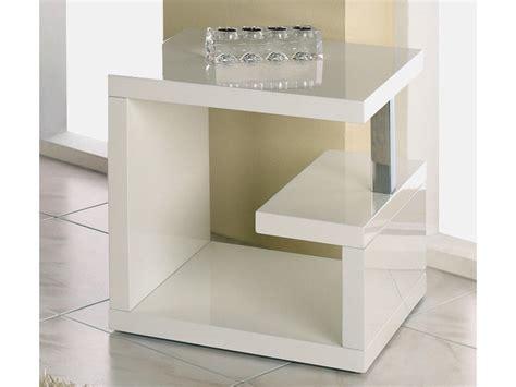 Kleiner Weißer Beistelltisch by Beistelltisch Hochglanz Wei 223 Design Quadratisch 49x49x49