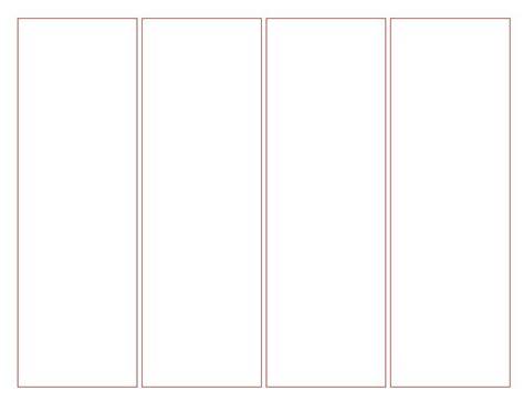 blank bookmark template  word    blank