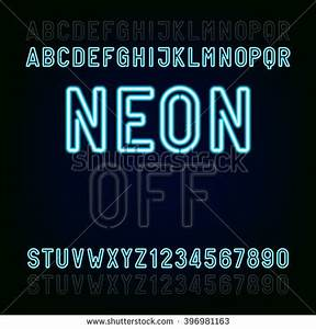Neon Letters Stock s Royalty Free & Vectors