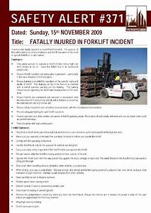 safety alert fatally injured in forklift incident With incident alert template