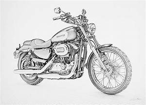 Pencil Drawings: Pencil Drawings Harley Davidson