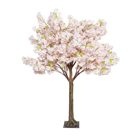 artificial cherry blossom tree with artificial trunk