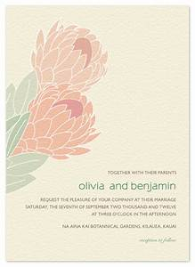 wedding invitations tropical protea at mintedcom With minted tropical wedding invitations