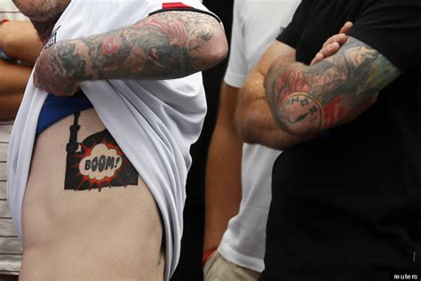 Edl Supporter Shows Off Tattoo Of Mosque Being Blown Up At