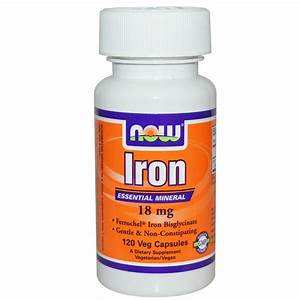 Iron Supplement - 120 - 18mg Vcaps By Now Foods