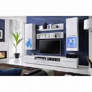 Meuble Tv Stockholm : meuble tv design laqu blanc avec led stockholm achat vente meuble tv meuble tv design ~ Teatrodelosmanantiales.com Idées de Décoration