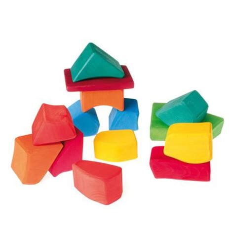 colored blocks grimms spiel holz wooden blocks waldorf toys