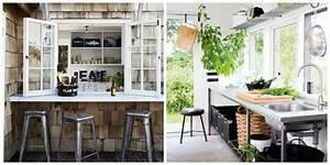 Bar Exterieur Design : id es am nagement cuisine ouverte sur l 39 ext rieur ~ Melissatoandfro.com Idées de Décoration